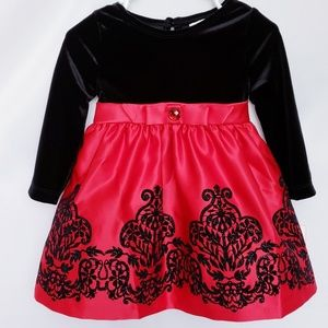 🌼2/$25🌼NWT! RARE EDITIONS black/red dress18 Mths